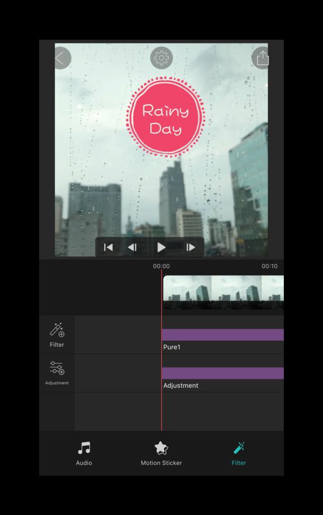 Tùy chỉnh trong Vimo - Ứng dụng tạo video dễ thương