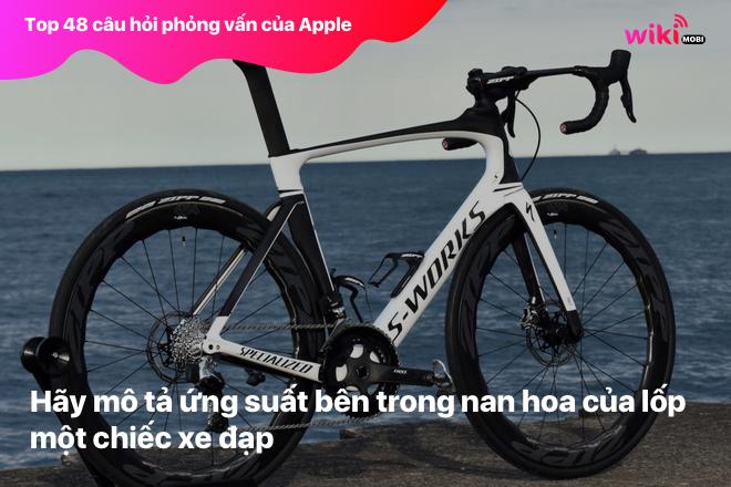 Hãy mô tả ứng suất bên trong nan hoa của lốp một chiếc xe đạp.