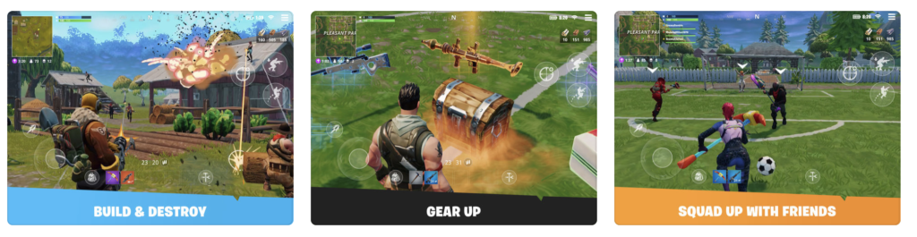Giao diện game Fornite của Epic Games