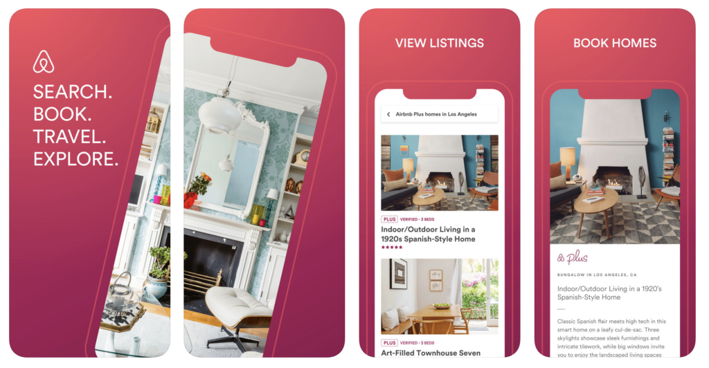 Giao diện ứng dụng Airbnb