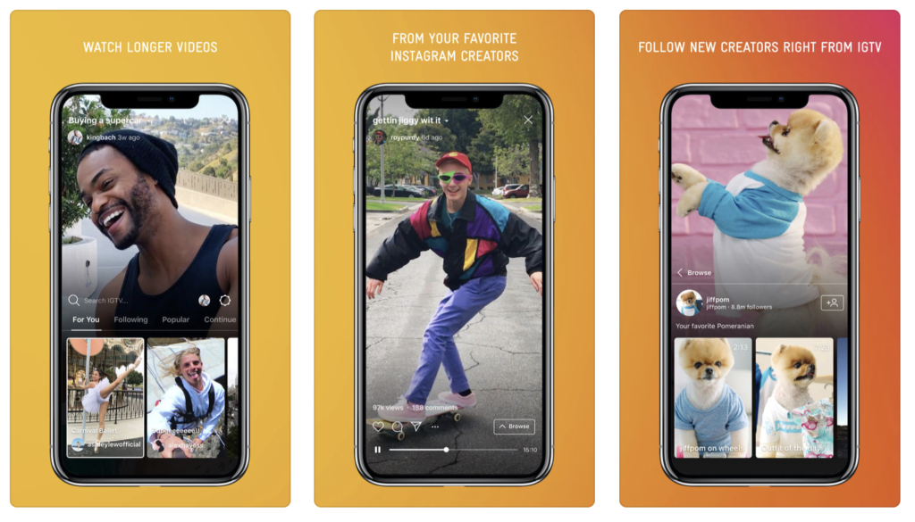 Giao diện ứng dụng IGTV