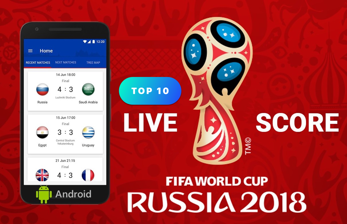 Top 10 apps - ứng dụng xem World Cup 2018 cho Android (cho điện thoại Samsung, Oppo, Xiaomi,...)