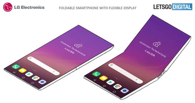 Bằng sáng chế smartphone màn hình gập của LG