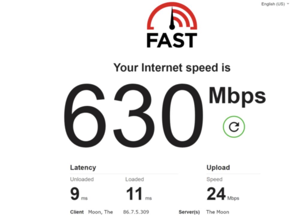 Fast Speed Test cung cấp nhiều thông tin hơn