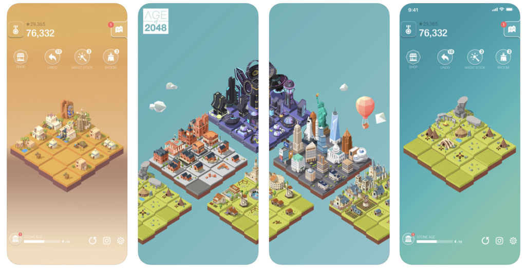 Giao diện game Age of 2048