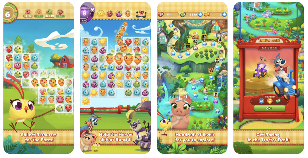 Giao diện game Farm Heroes Saga