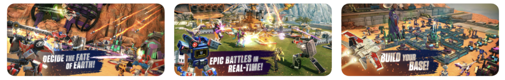 Giao diện game Tranformers Earth Wars