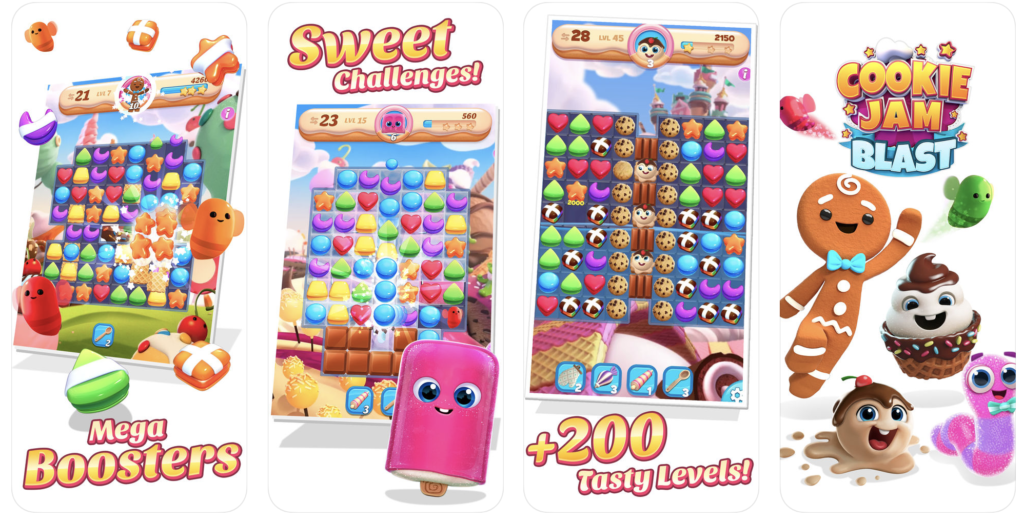 Giao diện ứng dụng game Cookies Jam