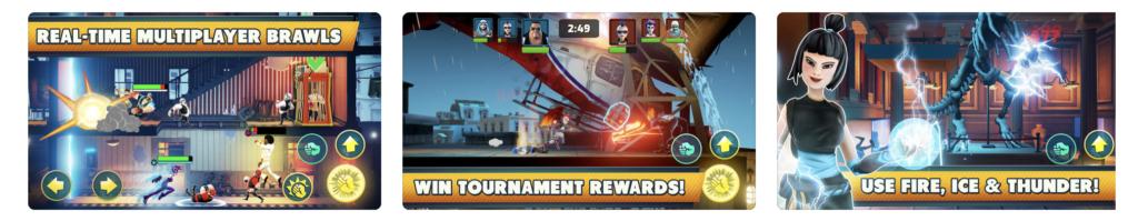 Giao diện ứng dụng game Mayhem Combat