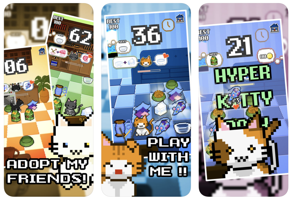 Giao diện ứng dụng game Wilful Kitty