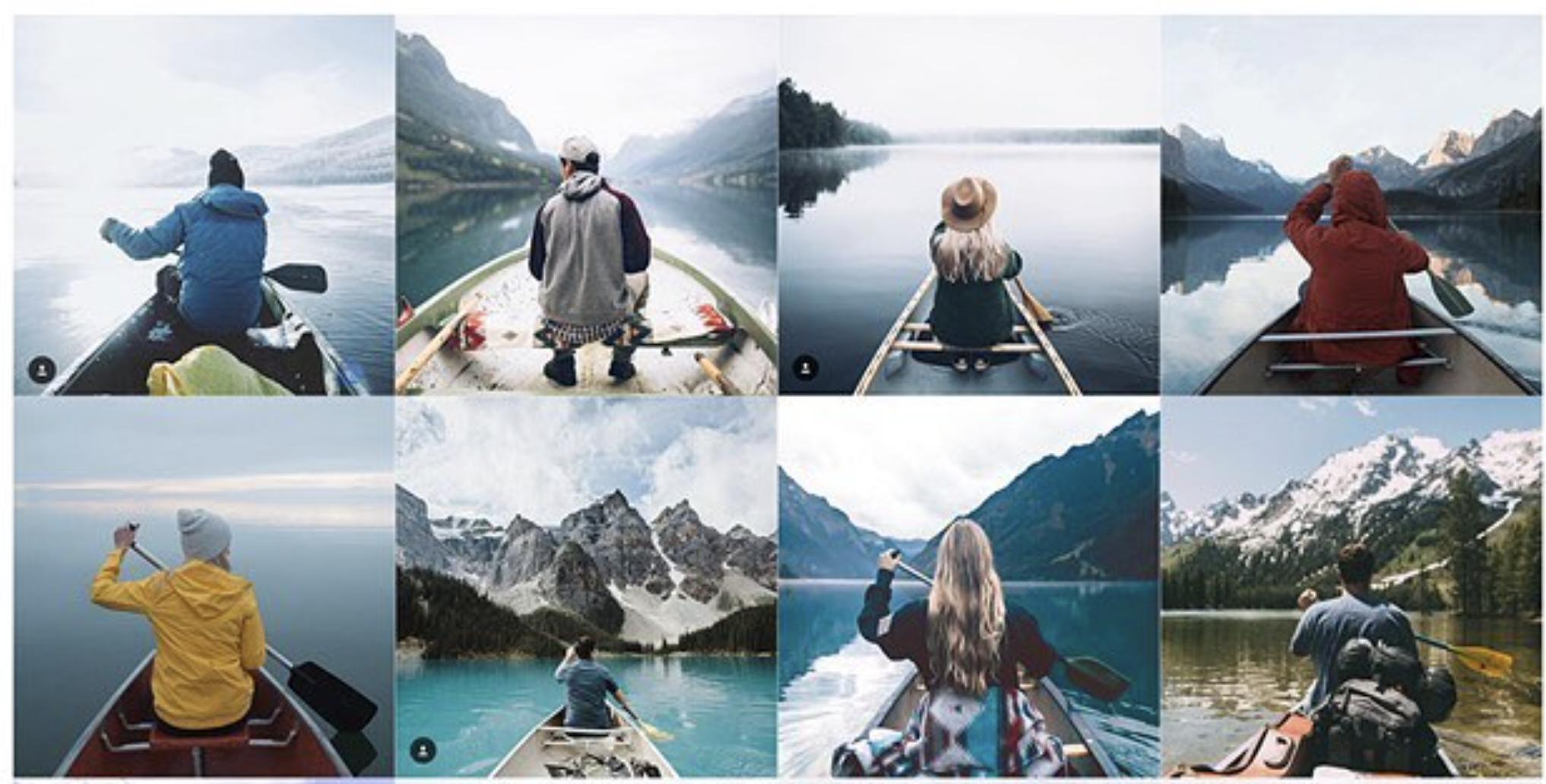 Instagram dần trở thành nơi chia sẻ những bức ảnh giống nhau