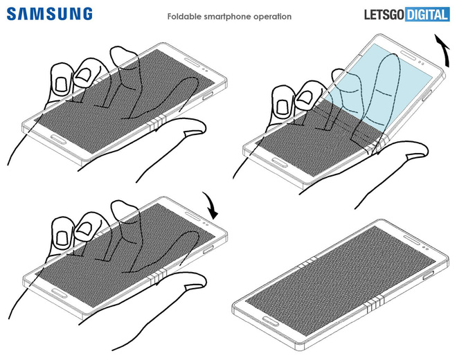 Samsung bằng sáng chế smartphone màn hình gập