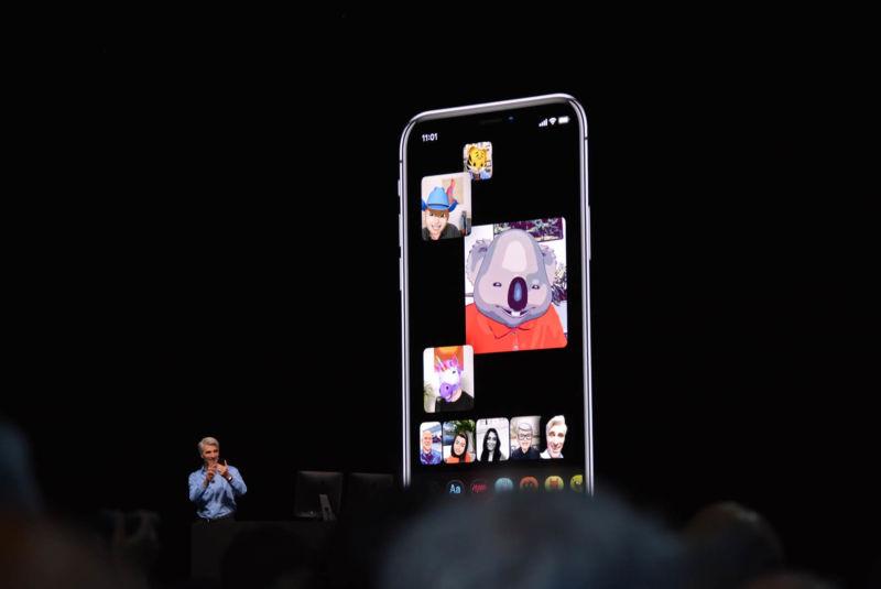 Facetime nhóm được công bố tại WWDC 2018