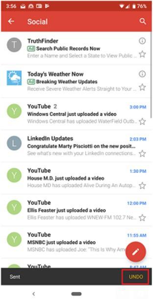 Gmail cho phép thu hồi mail sau khi gửi