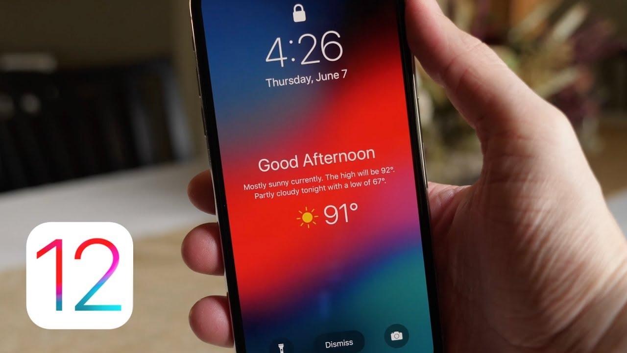 iOS 12: Hướng dẫn hiển thị thông tin thời tiết trên màn hình khoá