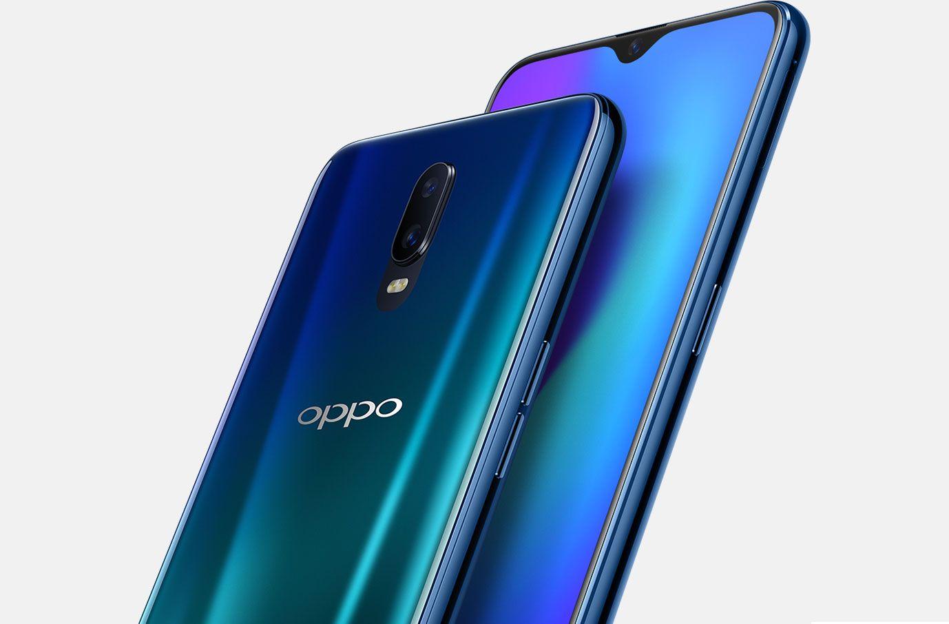 """Oppo R17 ra mắt: Mặt lưng giống Find X, """"tai thỏ"""" giọt nước, cảm biến vân tay dưới màn hình"""