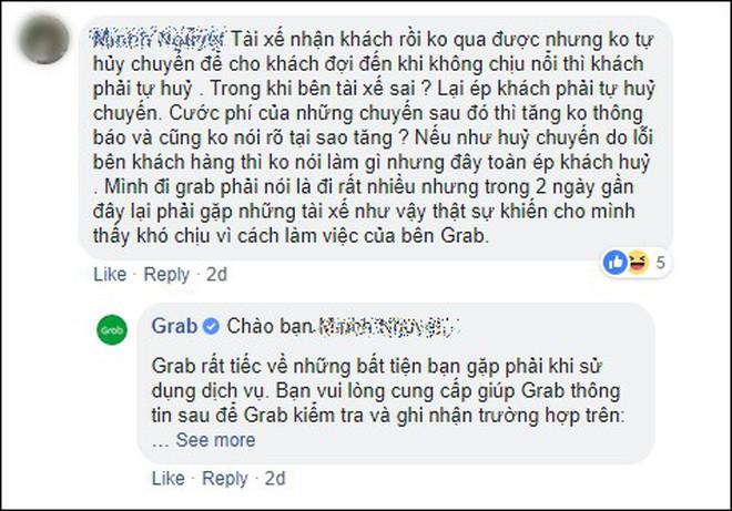 Phản hồi của khách hàng về Grab