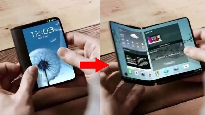 Smartphone màn hình gập mà Samsung đang phát triển