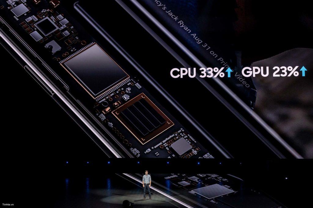 Thông số CPU và GPU mạnh hơn trên Note9
