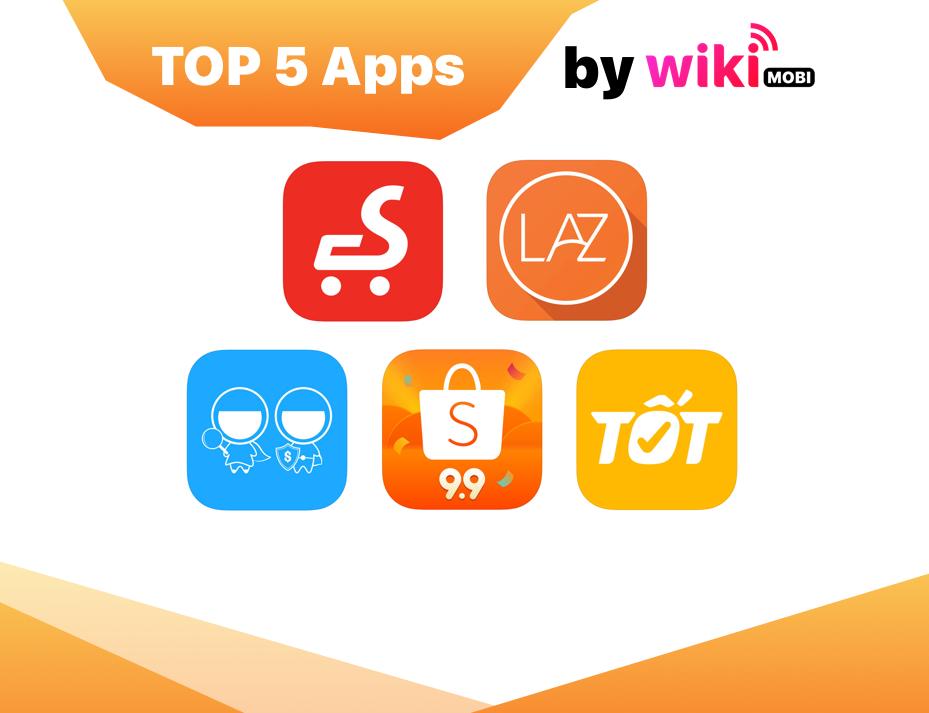 Top 5 ứng dụng mua bán online lớn nhất Việt Nam hiện nay