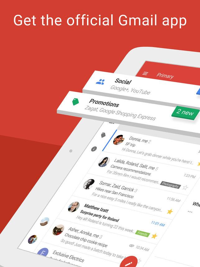 Ứng dụng Gmail có tính năng mới