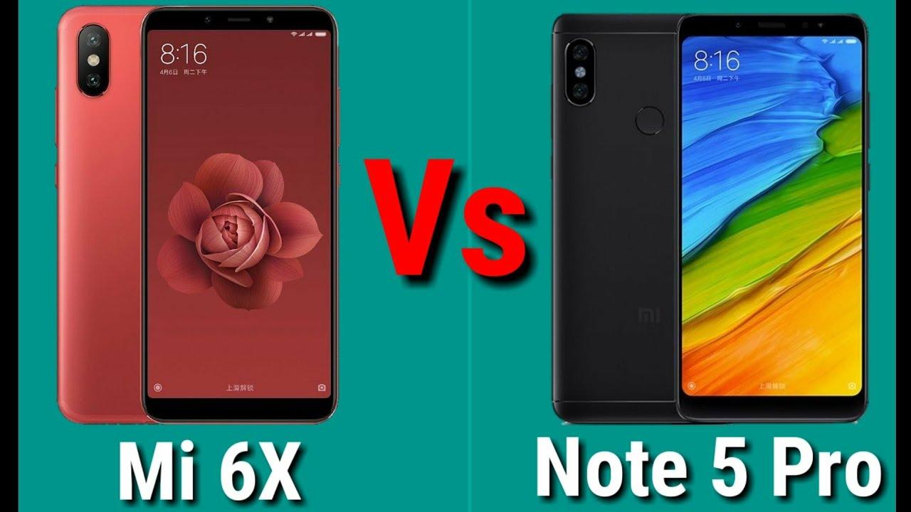 So dánh hai chiếc điện thoại Xiaomi Mi 6X và Xiaomi Redmi Note 5 Pro