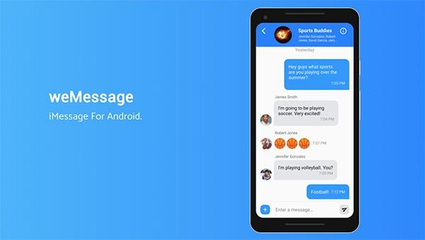 Hướng dẫn gửi tin nhắn iMesage trên Android bằng ứng dụng weMessage