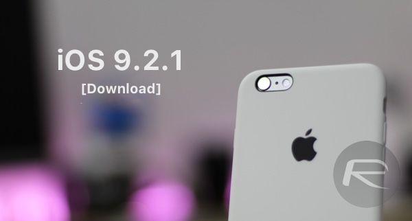 Cập nhật iOS 9.2.1 tốc độc cao cho điện thoại