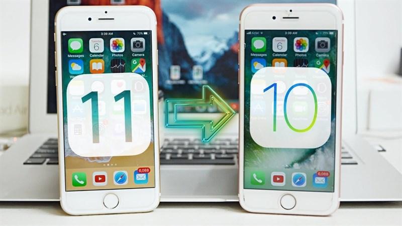 Hướng dẫn hạ cấp iOS 11 xuống iOS 10