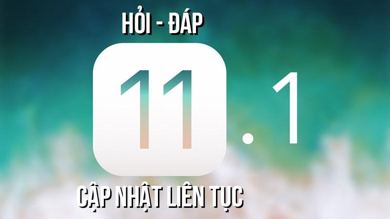 Những lỗi thường gặp trên iOS 11.1