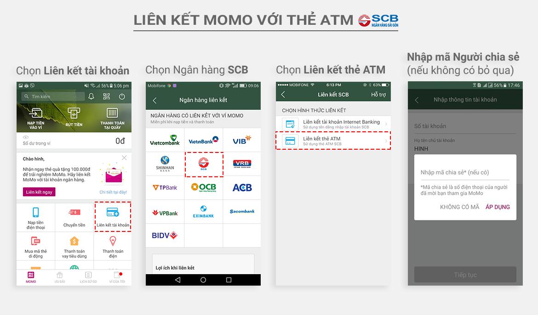 Hướng dẫn liên kết Ví MoMo với ngân hàng SCB