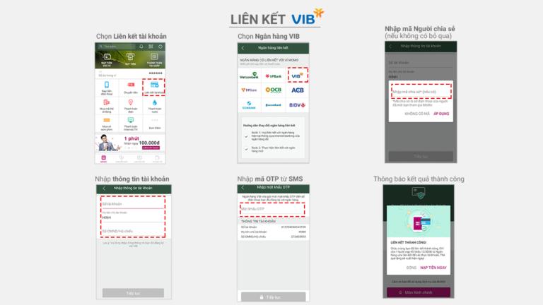 Hướng dẫn liên kết Ví MoMo với ngân hàng VIB