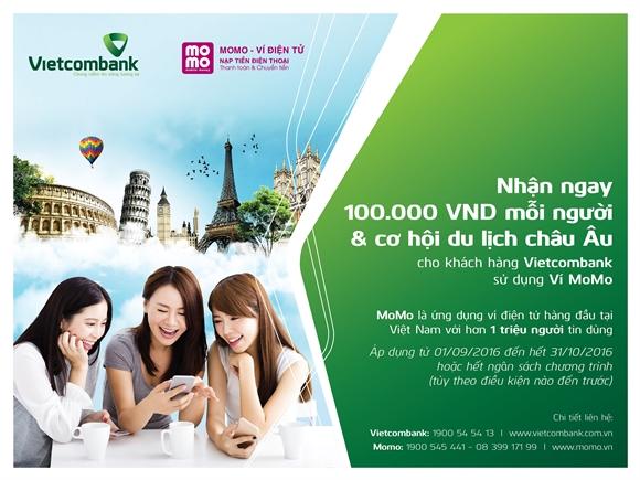 20 tỷ đồng khuyến mãi cho chủ tài khoản Vietcombank
