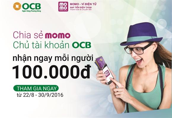 Hướng dẫn kiếm tiền khi sở hữu thẻ OCB từ MoMo