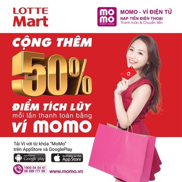 Trải nghiệm mua sắm tại Lotte Mart Q.7 nhận ngay 100.000đ từ MoMo